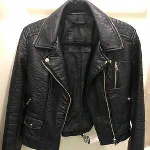 pre owned zar leather jacket medium